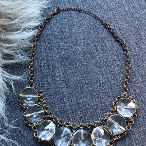 Jewelry - Gold & Clear Necklace ✨